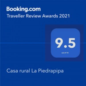 Puntuación 9,5 Casa Rural La Piedrapipa TravellerReviewAwards2021